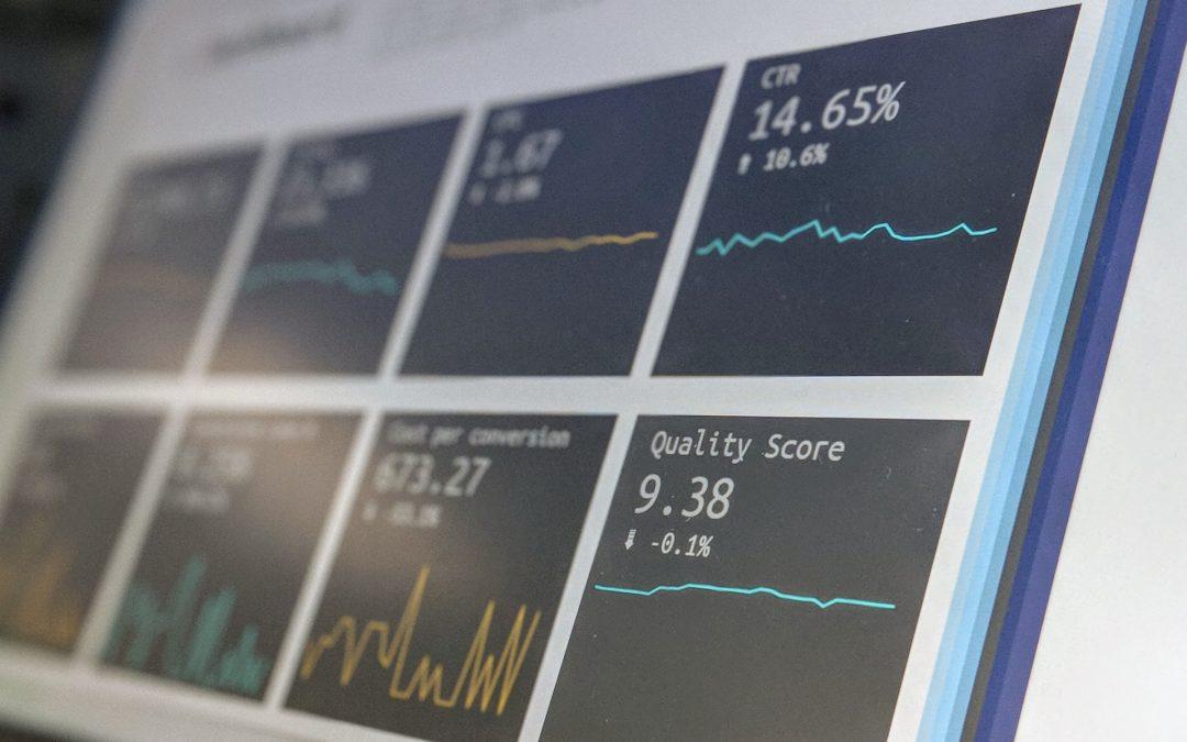 Website metrics showing various data.